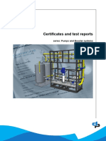 Certificates and Test Reports DPV Pumps and Booster Systems