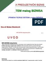 INFOsistem malog biznisa-01 Primena teorije sistema u malom biznisu