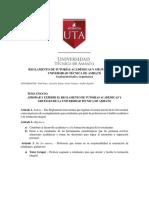 Resumen Reglamento de Tutorias 2