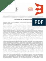 Discurso de juramentación del nuevo rector de la Ruiz