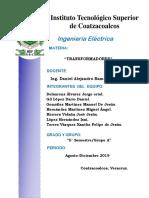 informe de transformadores propuesta