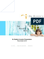 Dr. Reddy's Investor Presentation - November2010