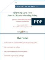 Reforming State-level Special Education Funding Policy