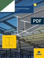 Folder Perfis Estruturais Gerdau - Informações Técnicas
