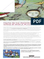 Carta de Los Derechos de Los Niños Al Arte y Cultura