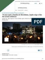 70 Anos Após a Bomba de Hiroshima, Japão Exige o Fim Das Armas Atômicas _ Internacional _ EL PAÍS Brasil