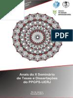 Anais Do x Seminário de Teses e Dissertações Do Ppgps