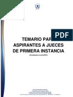 TEMARIO PARA ASPIRANTES A JUECES DE PRIMERA INSTANCIA
