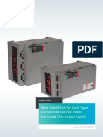 New 400/600A Series-A Type Vacu-Break Fusible Panelmounted Disconnect Switch