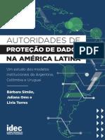 Relatorio Autoridade de Protecao de Dados Na America Latina Idec