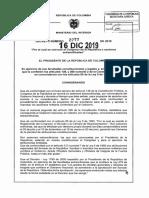 Decreto 2277 del 16 Diciembre de 2019