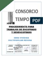 Proc.encofrado y Desencofrado Obra Tempo