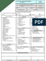 Formato Check List de Pre Uso de Maquinarias y Equipos