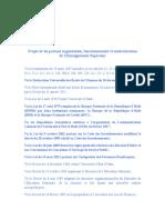 Projet de loi portant organisation, fonctionnement et modernisation de l'Enseignement Supérieur-Députés