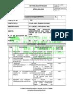 Informe de Ejecución de Contrato