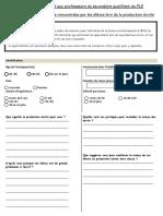 Questionnaire dédié aux professeurs du secondaire qualifiant du FLE