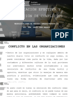 TEMA 9 - NEGOCIACION EFECTIVA Y RESOLUCION DE CONFLICTOS