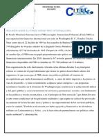 Realidad Nacional Fondo Monetario