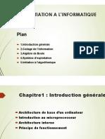 Initiation a l'Informatique ( Chap1) Smi s1