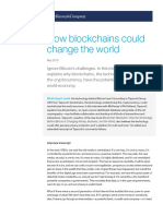 How blockchains could change the world