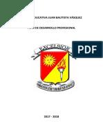 Plan de Desarrollo Profesional Jbv