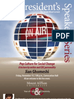 Jian Ghomeshi Culture and Creativity Poster