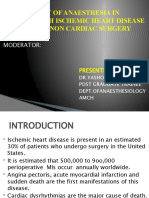 Topic-management of Anaesthesia in Patients With Ischemic Heart