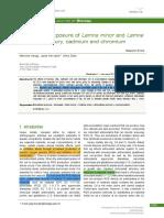 [Open Life Sciences] Short term exposure of Lemna minor and Lemna gibba to mercury cadmium and chromium.pdf