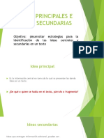 IDEAS PRINCIPALES E IDEAS SECUNDARIAS