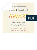 [2018] Aware by Dr. Daniel Siegel | The Science and Practice of Presence--A Complete Guide to the Groundbreaking Wheel of Awareness Meditation Practice | Penguin Audio