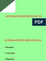 Alteraciones Hemáticas en patologia