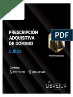 CURSO Prescripción Adquisitiva de Dominio.