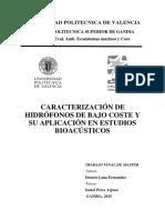 LUNA - Caracterización de hidrófonos de bajo coste y su aplicación en estudios bioacústicos.