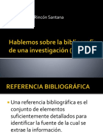 La Bibliografia (Segunda Parte)