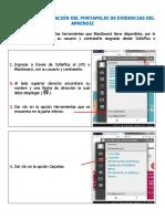 Instructivo PORTAFOLIO DE EVIDENCIAS DEL APRENDIZ