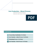 (4) Iron - Direct Reduction Process
