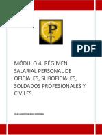MODULO 4. RÉGIMEN SALARIAL PERSONAL DE OFICIALES, SUBOFICIALES, SOLDADOS PROFESIONALES Y CIVILES