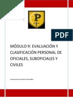 MÓDULO 9 EVALUACIÓN Y CLASIFICACIÓN PERSONAL DE OFICIALES, SUBOFICIALES Y CIVILES
