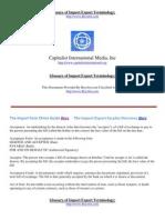 Import Export Terminology