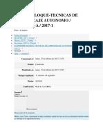 Tecnicas de Aprendizaje Autonomo