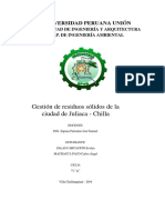 MONOGRAFIA. Gestión de Residuos de Chilla
