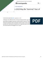 JPMorgan Says 2019 May Be 'Seminal' Year of Rising Risk