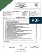 Lista de Chequeo Proyectos  ADSI