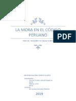 LA MORA EN EL CÓDIGO PERUANO - FINAL