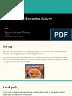 morphology semantics activity