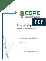 Plan de Negocios Gestión Empresarial