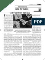 Contrato de Trabajo Como Contrato Realidad - Autor José María Pacori Cari