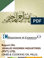 Report on Khalid Modern Industries (PVT) LTD.