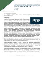 Resolución ARCSA-DE-016-2016-GGG_Normativa Técnica Sanitaria Sustitutiva para la regulación y control de medicamentos que contengan sustancias catalogadas sujetas a fiscalización