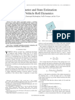 Parameter and State Estimation in Vehicle Roll Dynamics